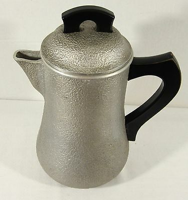 Vntg Century Metalcraft Silver Seal Cast Aluminum Pitcher with Open / Close Lid