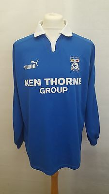 Cardiff City Fc Shirt Puma Home Size L Large - 2002/2003 Blue - Ken Thorne Rare