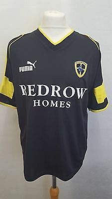 Cardiff City Fc Shirt Puma Away Size M Medium - Black - Redrow