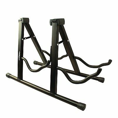 ChromaCast CC-DGS Universal Folding Double Guitar Stand with Secure Lock