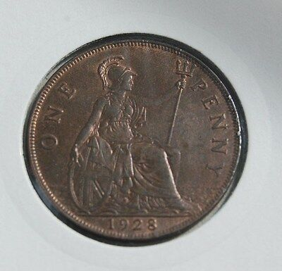 1928 George V Penny UNC Uncirculated Trace lustre BARGAIN PRICE