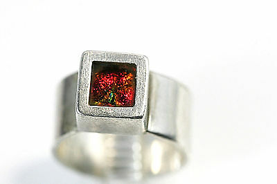 D140 Modernist Cube 8.7g sterling 925 Ring size 9 but adjusts up or down