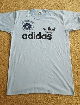 Vintage 80's adidas Trefoil T-Shirt MADE IN USA NWOT! Size L Blue