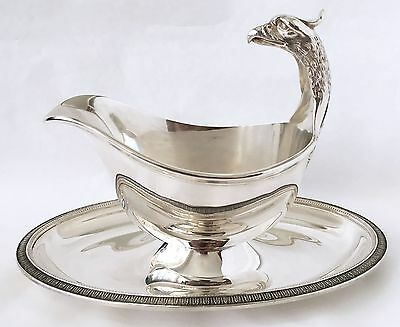 CHRISTOFLE France Genuine Malmaison silver plate SAUCE/GRAVY BOAT~New condition