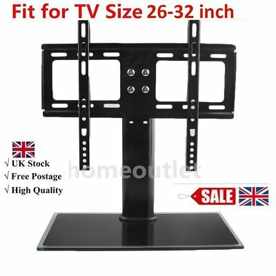 """Table Top Replacement TV Pedestal Stand Base fits 26""""-32"""" For LED LCD Plasma SA"""