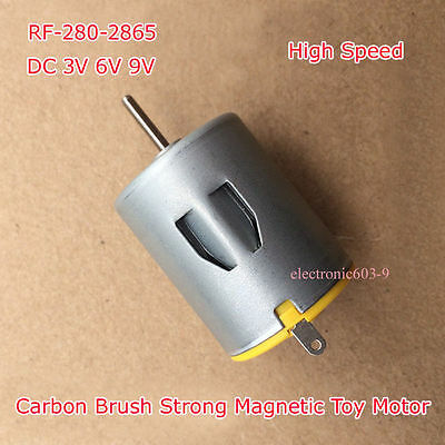 DC 3V 6V 9V RF-280-2865 Micro Motor Carbon Brush Strong Magnetic For Toy Motor