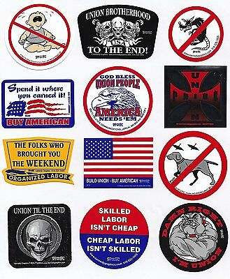 Union Hard Hat Sticker Mix 6 -- Our Best Sellers Pack