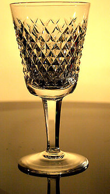 Waterford Crystal Alana White Wine Glass/ Glasses Vintage