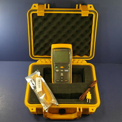 Fluke 52 II Thermocouple Thermometer, Very Good condition, Hard Case