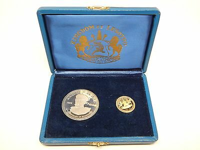Kingdom of Lesotho 1976 Gold & Silver Two coin set