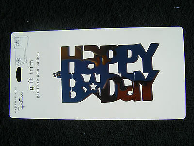 Hallmark Gift HAPPY BIRTHDAY Tag Silver Chain - LOT OF 9 - NEW Discontinued