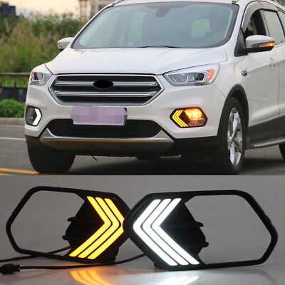 new drl for ford escape kuga 2017 2018 led daytime running. Black Bedroom Furniture Sets. Home Design Ideas