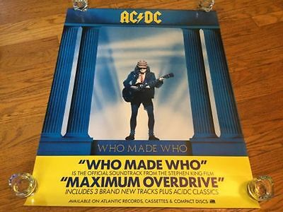 AC/DC -Who Made Who 1986 Atlantic Records Album Cover Promo Poster_Angus Young