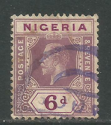 Nigeria 1914-27 King George V 6p dull violet & red violet (7) used