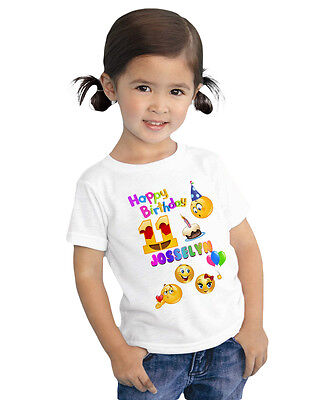 Emoji Shirt Custom Order Personalized Name and Age
