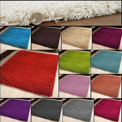 5cm PILE MODERN RUGS PLAIN SOFT THICK SHAGGY RUGS NON SHED SMALL to LARGE SIZE