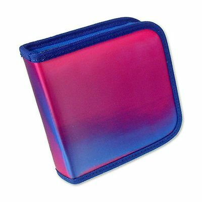 CD DVD Case Wallet Purple Pink Changing Colors Lenticular Futuristic  CD24-R-005
