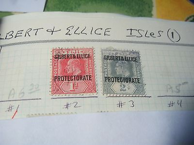 GILBERT&ELLICE- USED-SCOTT#2+#3+#27 to #30-2 Fiji orprts+1921George5th set-cv$95