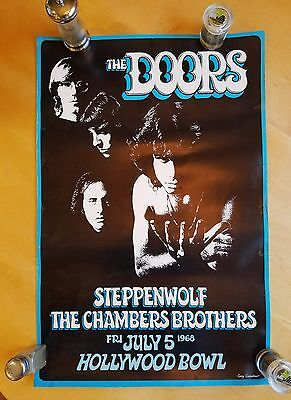 THE DOORS 1968  Concert Poster at the Hollywood Bowl Gary Grimshaw Iconic Art !!