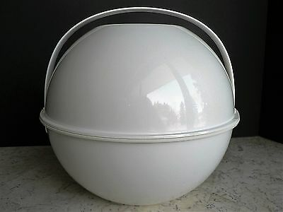 UNUSED Vintage GUZZINI Picnic Orb Ball White Retro 1970s Amazing Condition!
