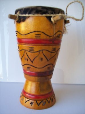 Handmade Haitian Drum Wood Haitian Art and Craft  1 Small Tambour