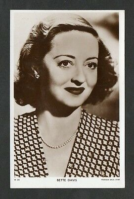 Bette Davis Picturegoer W Series Film Star Actress Postcard No. W 292