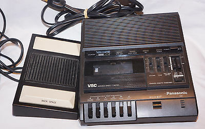 Panasonic RR-830 RR830 Standard Cassette Transcriber with RP-2692 Foot Switch