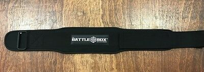"BattleBox UK™ Light WOD Weightlifting Belt 4"" Memory Foam Support CrossFit"