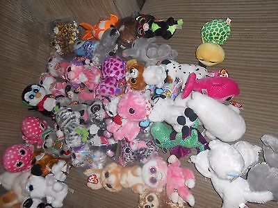 "Large Variety Of Ty Beanie Boos 6"" And 9"" With Damaged Heart Tags Or Missing Tag"