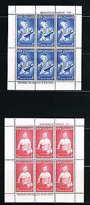 New Zealand stamps - MNH sheetlets Scott #B71a-B72a with Prince Andrew as child