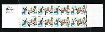 Great Britain stamps - MNH booklet Scott 2010 #BK836 with Snowman