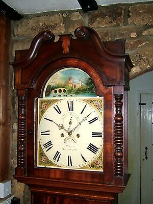 Victorian Oak, Mahogany & Inlaid Grandfather Clock C1840-60