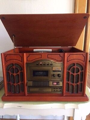 Excalabur RD50 4 in1 Vintage Style  Record Player/Cd/Tape Deck/ AM FM