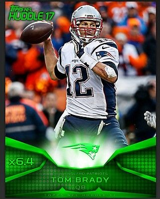 TOPPS NFL Huddle 2017: Super Bowl x6.4 Tom Brady / New England Patriots (1 card)