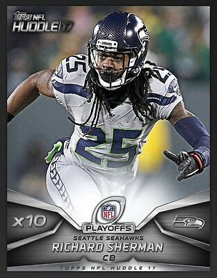 TOPPS NFL Huddle 2017: X10 Boost Richard Sherman Seattle Seahawks (1 card)