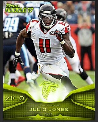 TOPPS NFL Huddle 2017: Super Bowl Neon x14.0 Boost Julio Jones / Atlanta Falcons