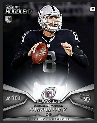 TOPPS NFL Huddle 2017: X10 Boost Connor Cook Oakland Raiders (1 card)