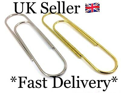 Craft Work PACK OF 5 Jumbo Paper Clip10.5x3cm Gold & Silver Home & Office Use 65