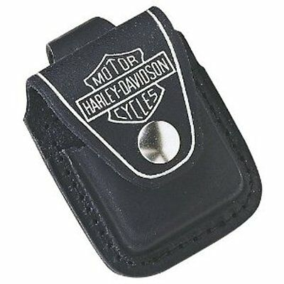 Harley Davidson Zippo Lighter Pouch Leather Motorcycle Snap Closure New