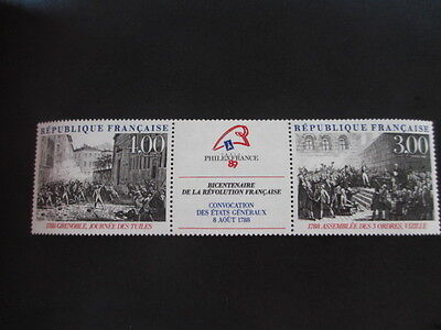 Timbre - FRANCE - Triptyque Grenoble - Vizille -  1989 - neuf ** - n° 2538 A