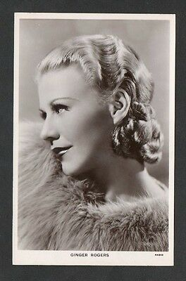 Ginger Rogers Picturegoer Main Series Film Star Actress Postcard No. 713c