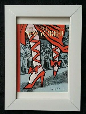 New Yorker magazine framed postcard print 6x4 NEW red shoes