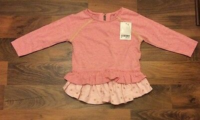 Next Girls Pink Top Age 12-18 Months RRP £8.50 BNWL