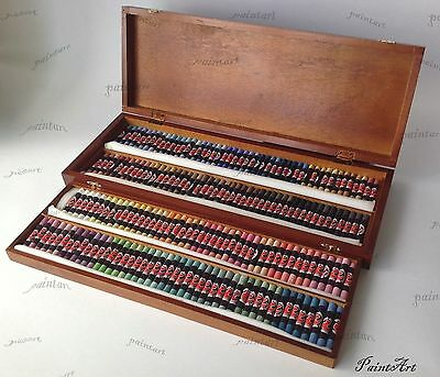 Podol'sk Artists pastel set 185 Colours Wooden box Pastels. Russian