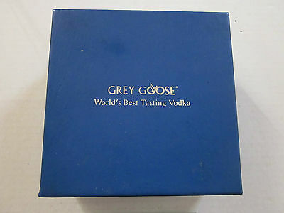 Original Boxed Set 6 Grey Goose Frosted Glass Coasters