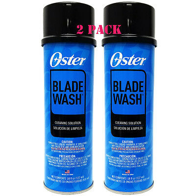 Oster Blade Wash Liquid Washing Solution Cleaner 18 Oz 2 Pack