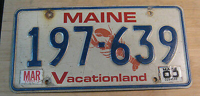 2000 Maine Lobster License Plate Expired 197 639