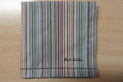 Paul Smith Handkerchief- Multi Coloured  Narrow Stripe - Fathers Day Gift
