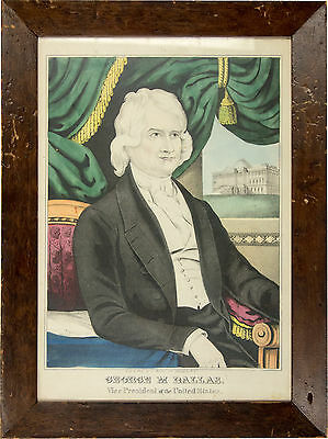 Vice President GEORGE M. DALLAS J. Baillie framed lithographed print 1844