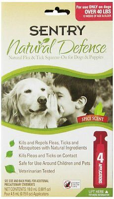 SENTRY Natural Defense Natural Flea & Tick Squeeze-on - Dogs & Puppies, 4 count